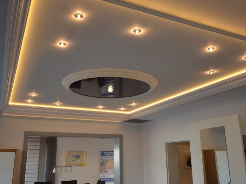 spanplafond met spots